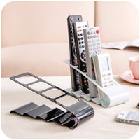 Metal black modern tv stand - 2017 hot sale Practical Wrinkled Section TV DVD VCR Mobile Phone Remote Control Stand Holder Storage Organiser