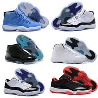 Retro 11 haut top hommes chaussures de basket-ball Midnight Navy Gym Red Paten cuir + Nylon Air 11s femmes Outdoor chaussures de basket-ball taille 36-47