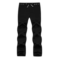 Wholesale Nice Tracksuits - Wholesale-2016 new trousers comfortable waterproof stretch Nice zipper casual men sport pants pantalon homme tracksuit bottoms gym 1216033