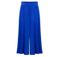 Wholesale Loose Trousers For Women - Wholesale-Plus size XL-6XL Female Wide Leg Pants Nine pants Baggy Harem Pants Loose Pantalones Mujer Solid Trousers for Women 2016