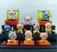 Wholesale Lucky Star Pvc Figures - Mini Cute Anime Lucky Star PVC Figure Girls' Festival Version 10pcs Set For Christmas Gifts Free Shipping 1206#06
