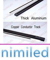 Wholesale aluminum copper connectors online - nimi963 LED Lamp M Track Rail Lighting Spotlights Universal Aluminum Clothing Two wire Copper Conductor Rail Track Or Track Connector