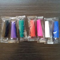 Wholesale Disposable Silicon Testing Mouthpiece - Free DHL 510 Silicone Mouthpiece Cover Drip Tip Disposable Colorful Silicon testing caps rubber short ego Test Tips Tester Cap drip tips