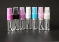 Wholesale Liquid Plastic Spray - Factory Price Wholesale DHL FREE Plastic 10ml Travel liquid Fine mist Perfume Atomizer Refillable Spray Empty Bottle 500pcs lot