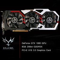 Wholesale Fan Graphics - Colorful NVIDIA GeForce GTX iGame 1080 GPU 8GB 256bit Gaming GDDR5X PCI-E X16 3.0 Graphics Card DVI+HDMI+3*DP Port 3 Cooling Fan