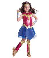 Wholesale Corduroy Dress Girls - Deluxe Child Dawn Of Justice DC Superhero Wonder Woman Halloween Costume Girls Princess Diana Dressing-Up
