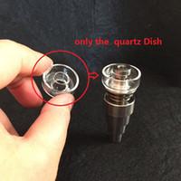 Wholesale Quartz Replacement - Replacement Quartz Dish for Hybrid Titanium Outer diameter 25mm or 22mm in stock for oil rigs bongs