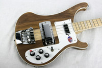 Wholesale Basswood Guitar Body - Ricken 4001 RARE TRANSLUCENT WALNUT vintage 4000 4003 4 String Electric Bass Guitar Neck Thru Body One PC Neck & Body