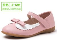 Wholesale Dress Shoes Girl Bow - 2016 Children's shoes in the spring and autumn fashion shoes children's shoes Princess Dress Shoes Lovely princess shoes of the girls