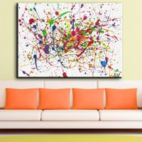 Wholesale wall pictures for home decor resale online - ZZ1862 Jackson Pollock Classic Abstract Art Canvas Print Painting Poster Wall Pictures For Living Room Home Decor