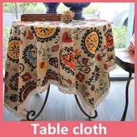 Wholesale Home Textile Free Shipping - Shipping Free Flax Table Cloth Tablecloth Fiberflax Table Cover Round For Banquet Wedding Party Decoration Home Textile 16110203