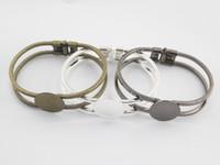 Wholesale Bronze Cabochon Ring Settings - 5pcs Brass Antique Bronze 20MM Flat Round Bangle Bracelet Blank Base Tray Bezel Cabochon Setting