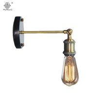amerikan iç aydınlatmaları toptan satış-Amerikan Eski Metal Duvar Lambası Endüstriyel Loft Duvar Işık Ülke Retro Kaplama Duvar Işık Aplik Lambaları Başucu İç Aydınlatma
