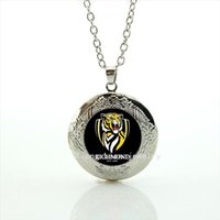 Wholesale tiger necklace men - New Design High Quality Fashion men jewelry locket necklace Richmond est 1885 tiger picture necklace for men NF013