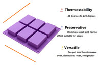 Wholesale Silicone Soap Molds Rectangular - Handmade Custom Silicone Cake Mold Standard Rectangular Baking Mold DIY 8 * 5.5 * 2.5CM 100ml Handmade Soap Mold Soap Cold Soap molds