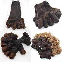 Wholesale Nigerian Hair - Aunty Funmi Human Hair Weave Nigerian Style Bouncy Spring Romance Curls Ombre Hair Bundles G-EASY