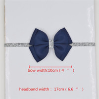 Wholesale Diy Flower Hair Band - 196 color new Baby hair bow flower Headband Silver ribbon Hair Band Handmade DIY hair accessories for children newborn toddler 30pcs