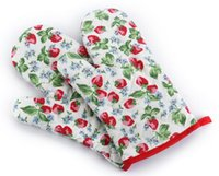 Wholesale Heat Resistant cotton Kitchen Oven Mitts Oven Gloves pairs