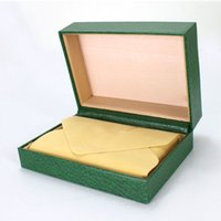 Green pack box supplier - Factory Supplier Luxury Packing Box Green Original Watches Boxes Mens Watch leather box with Brochures cards