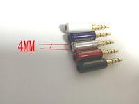 Wholesale diy stereo adapter resale online - 20pcs mm Pole Male Repair Earphones Plug adapter Soldering DIY