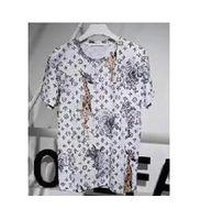 Wholesale Giraffe Sleeve - 2017 Giraffe Elephant Printed Summer New Fashion Brand Clothing Tshirt Short Sleeve T Shirt Men Casual T-Shirts White
