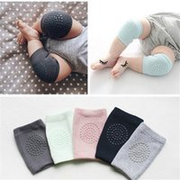 Wholesale Elbow Knee Pads Baby - 20 Pair Kids Safety Crawling Elbow Cushion Infants Toddlers Baby Knee Pads Protector Leg Warmers Baby Kneecap BZ872974