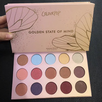 Wholesale Free Eyeshadows - ColourPop Golden State of Mind 15 Colors Eyeshadow Palette Glitte Matte Shimmer Makeup Eyeshadows Palette Free Shipping