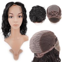 Wholesale Brazilain Natural Wave Wig - Lace Front Brazilain Virgin Human Hair Wigs Glueless Body Wave 1B Natural Color Dyeable Soft Smooth Hair Wigs 9A Diamond