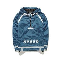 Wholesale 3m hood - Wholesale- Newest Original Brand Men Luminous Jacket Autumn Winter Reflective Jacket Hood 3M Jacket Men Hip Hop Coat