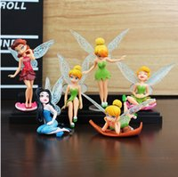 Wholesale Tinkerbell Doll Wholesale - High Quality PVC 6 pcs Tinkerbell Fairy Adorable Figures Toys Doll NEW and retail Tinker bell