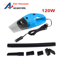 Wholesale Hands Vacuum Cleaner - Car Vacuum Cleaner 120W Wet Dry Dual-Use Super Suction Car Use Portable Dust Hand Vacuum Cleaner 12 Volt Black Orange Blue