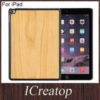 Wholesale Ipad Bamboo Cover - High Quality Handmade Real ture wooden bamboo cherry walnut wood cases cover for iPad Air 2 Mini 3 4 wood case best price