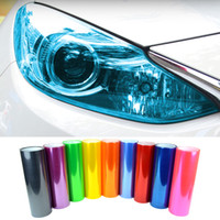 "Wholesale Lighted Window Sticker - Car Styling Newest 13 Colors 12""X40"" 30CMX100CM Auto Car Light Headlight Taillight Tint styling waterproof Vinyl Film Sticker"