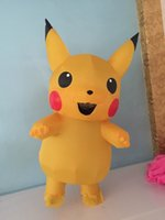 Wholesale Mascot Costumes For Girls - Inflatable Pikachu Costume halloween costumes for women Girls sexy kids pikachu mascot costume