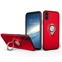 Wholesale s8 case for sale - Hybrid Armor Cases With Ring Holder For IPhone XR XS MAX Plus S S9 S8 Plus Woft Design