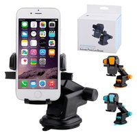 Wholesale green cars for sale online - 2017 Hot Sale Colors N2 Universal Retractable Car Mount For iphone Samsung Note Mounts Holders Cradles With Suction Cup Free DHL