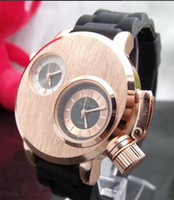 Wholesale New Steel V6 - Men's Sports Watch V6 Steel Case Analog Quartz Watches Dual time zone watch Large Dial Rubber Strap Military watches New