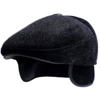 Wholesale Wholesale Outdoor Ear Flap Hats - Wholesale-Autumn and Winter Warm New Men's Wool Hat MInk Fur Visors Hats Russian Ushanka Fashion Luxury Warm Ear Flaps Cap Outdoor Sport