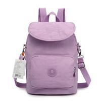 Wholesale Vintage Style Large Canvas Backpack - Fashion Canvas Women Backpack Handbag Casual Pure Color Travel Bag Vintage Large Capacity Lady's School Bag Laptop Bag