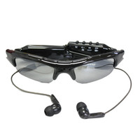 Wholesale Spy Photo Camera - Fashion Spy Camera Sunglasses with MP3 Player Audio Video Recording Photo Tacking Mini Eyewear DV 720*480
