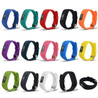 Wholesale Garmin Black - Replacement Garmin Fitness Bands Silicon Bracelet Strap Bands for Garmin Vivofit 3 Smart Watch with Metal Clasp Newest FC0048