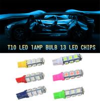 online Shopping White Led Side Marker - 50 PCS piec T10 car light bulb 13 lamp beads SMD 5050 LED Light license plate lights side marker light