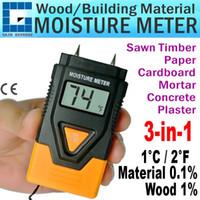 Wholesale Plaster Moisture Meter - DM1100 Portable Mini Digital 3-in-1 2 Pin Wood Building Hard Materials Moisture Meter Concrete Plasters Mortar Timber Paper
