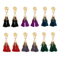 Wholesale Tassels For Sale Wholesale - Hot sale vintage tassel Dangle earrings for women european and american style dangling flowers earrings jewelry accessories