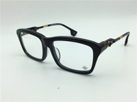 Wholesale H Logo - new logo eyeglass chrom-H hotcooter glasses prescription men eye frame brand designer prescription glasses vintage frame steampunk style