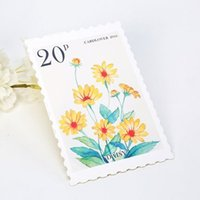 Wholesale Stamp Postcard Set - Wholesale- Postcard stamp colorful plant natural forest greeting card Post Cards set journey design school supplies new time pattern XM
