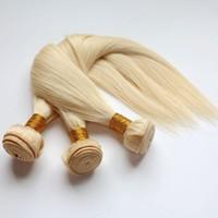 Wholesale 613 hair weave resale online - Virgin Brazilian Hair Bundles Human Hair Weaves Weft Bleach Blonde Peruvian Indian Malaysian Mongolian Mink Remy Human Hair Extensions