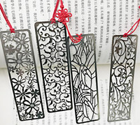 Wholesale Classic Bookmarks - Chinese style original creative bookmark flowers spring four classic metal bookmark student stationery vintage style vintage gift