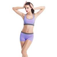 Wholesale Ordering Bra Wholesale - Wholesale-Sexy New Women Padded Yoga Bra Racerback Athletic Vest Gym Fitness shorts Set Jun08