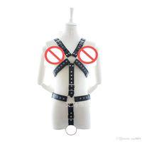 Wholesale Sex Rope Harness Bondage - 2017 Men's BDSM Bondage,Leather Belt Chest Harness Lingerie,Gay Buckles Harnesses Costume, Sex Toys For Men D168